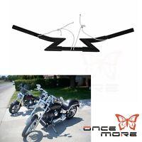 "Motorcycle Crazy Z Bars 1 1/4"" Clubman Handlebars Fit Harley Chopper Bobber Dyna"