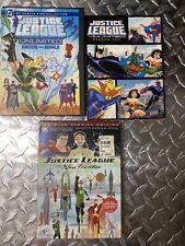 Dc Comics Justice League Lot Of 3 Dvds