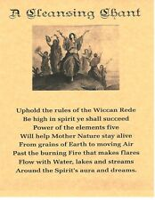 Book of Shadows Spell Pages ** Cleansing Chant ** Wicca Witchcraft BOS