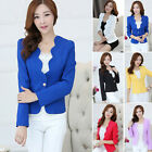 ❦❧ Women's Girls One Button Slim Casual Business Blazer Suit Jacket Coat Outwear
