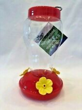 Hummingbird Feeder Garden Collection Plastic Hanging 6.75 Inches Tall New