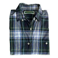 Vintage RM WILLIAMS Womens Sz16 Shirt T608 Long Sleeve Button Front Green Check