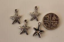 10 Tibetan Silver Sea Starfish Pendant Alloy Charms Bead Findings 12x13mm
