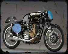 AJS 7R A4 métal signe Moto Vintage Aged