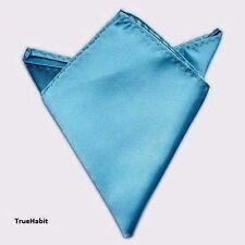 $95 BLOOMINGDALES Men's HANDKERCHIEF BLUE SOLID CASUAL FORMAL SUIT POCKET SQUARE