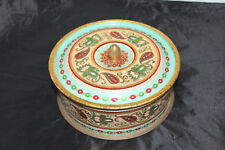 Antique round tin made in Western Germany Red Gold Blue Green
