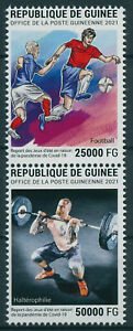 Guinea 2021 MNH Olympics Stamps Tokyo 2020 Postponement Corona Football 2v Set