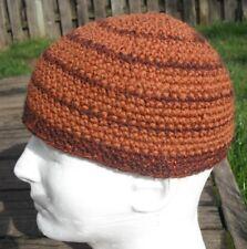 Laid Back Brown Crocheted Scull Cap - Medium Size - Handmade by Michaela