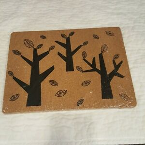 IKEA 4XTYST Cork Place Mat 4pcs 42 x 32cm Mouse Pad Desk Pad Eco-Friendly Tree