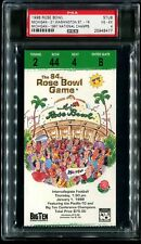 1998 Rose Bowl Ticket Michigan Washington National Champs Tom Brady Soph PSA 4