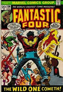 2 X THE FANTASTIC FOUR #134 & #136 1973 GRADED VG- MARVEL COMICS GROUP