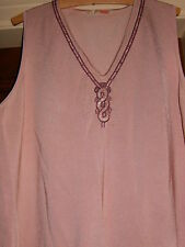 M & S WOMEN 22 -24 LIGHT PINK WITH EMBELISHMENT