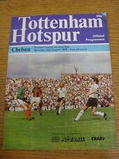 26/08/1978 Tottenham Hotspur v Chelsea  (Folded, Very Creased, Corner Worn)