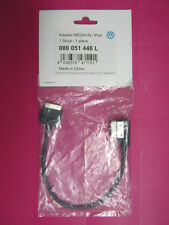 GENUINE VW MUSIC MEDIA IN IPOD IPHONE LEAD CABLE ADAPTER MDI 000 051 446 L
