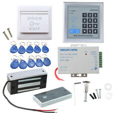 Full Set RFID Door Access Control System Kit 60kg 130LBs Electric Magnetic Lock