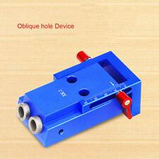 Mini Kreg Style Pocket Slant Hole Jig System Kit Step Drill Bit Wood Work Tool