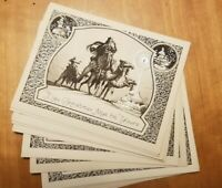 Vintage Silver Embossed Christmas Card Set of 12 Three Wise Men Camels NOS 1910s