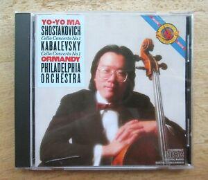 SHOSTAKOVICH & KABALEVSKY CELLO CONCERTOS Yo-Yo MA Philadelphia/ORMANDY[CBS 1983