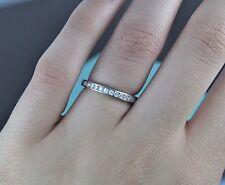 $2,875 Tiffany Platinum Round Diamond 2.5mm Wedding Band Anniversary Ring Sz 5.5