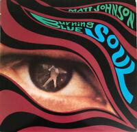 MATT JOHNSON BURNING BLUE SOUL LP 4AD PYRAMID EYE 1ST UK PRESS NR MINT PROCLEAN