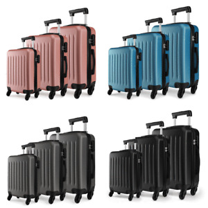 Hard Shell Travel Luggage Trolleys Cases Hand Suitcase 20''24''28'' Ryanair