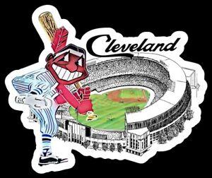Cleveland Indians MAGNET Municipal Stadium Vintage Chief Wahoo MLB Baseball