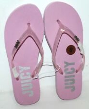 JUICY COUTURE FLIP FLOPS SANDALS WOMEN SIZE 8 PINK