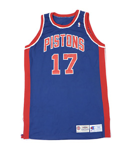 Vtg Champion NBA Detroit Pistons Bill Curley Player Issued Jersey #17 94/95 50