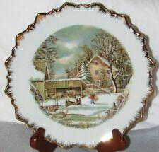 Currier And Ives - The Farmer'S Home - Winter Collector Plate