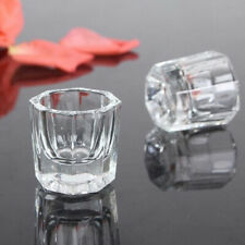 IG_ JI_ ALS_ Glass Bowl Cup Acrylic Powder Container Nail Manicure Salon Tools F
