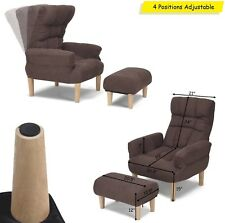 Recliner Lounge Chair Lazy Sofa Chairs With Ottoman Seat Leisure Adjustable Back