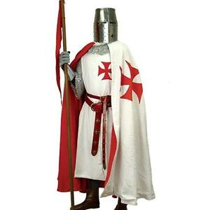 MEDIEVAL Knight Crusader TEMPLAR Middle Ages Mens SLEEVELESS TUNIC S/M L/XL New