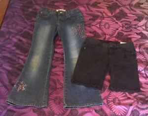 JUSTICE Bermuda Shorts NWT 10; GAP Jeans EUC 10