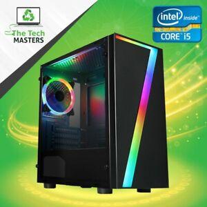 ULTRA FAST Gaming PC Intel Core i5 8/16GB RAM SSD + HDD GT1030/GTX1050ti/750ti