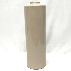 """Hearth & Hand with Magnolia Stoneware Vase 13"""" Tall Beige/Taupe"""