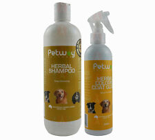 Petway Herbal Grooming Kit Shampoo Cologne Brush Dog Cat Puppies Kittens