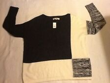 Ann Taylor LOFT women's ivory & gray knit large sweater size L.