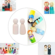 10 PCS 35/43/55/65mm Natural Wooden People Peg Dolls Wedding Cake Toppers