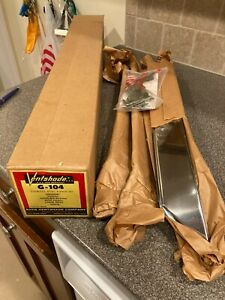 Vintage VENTSHADE RAIN DEFLECTOR 4 Piece Stainless Steel GM Olds Buick Chevy