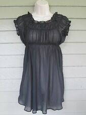 Victoria's Secret Womens Sheer Black Babydoll Chemise Nightgown S