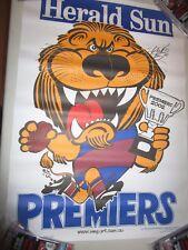 Simon Black (Brisbane Lions) signed 2002 Weg Premiership Poster + COA  (#127)