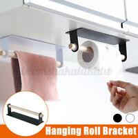 Under Kitchen Cabinet Towel Cup Paper Hanger Rack Organizer Storage Shelf Holder