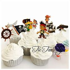 10X Jake And The Neverland Pirates cupcake TOPPER. Party Supplies Pirates Lolly