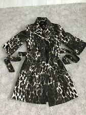 BNWOT ATMOSPHERE LEOPARD PRINT 3/4 SLEEVE BELTED MAC COAT SIZE 8