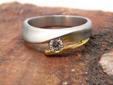 Elegante Ring | aus 950er Platin | mit Brillant ca. 0,15ct. | 6,9g