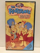 HANNA BARBERA ~ THE FLINTSTONES ~ FEARLESS FRED STRIKES AGAIN ~ RARE VHS VIDEO