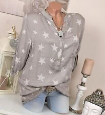 3/4 Arme Damenblusen,-Tops & -Shirts mit V-Ausschnitt und Gepunktet für Freizeit