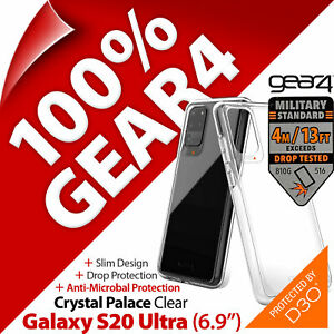 """Gear4 Crystal Palace D3O Drop Protection Case for Samsung Galaxy S20 Ultra (6.9"""""""