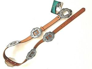 NEW Reflexions by Montana Silversmiths Frontier Collect NWT Belt Concho Leather
