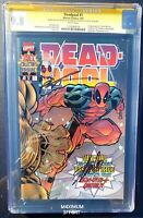 Deadpool #1 (1997) 1st Collector Issue CGC 9.8 Signed Stan Lee & Rob Liefeld